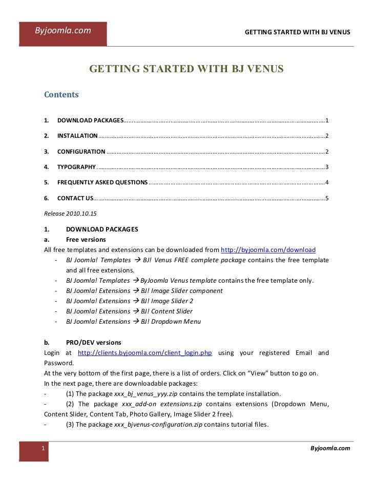 Byjoomla.com                                                                                                 GETTING START...