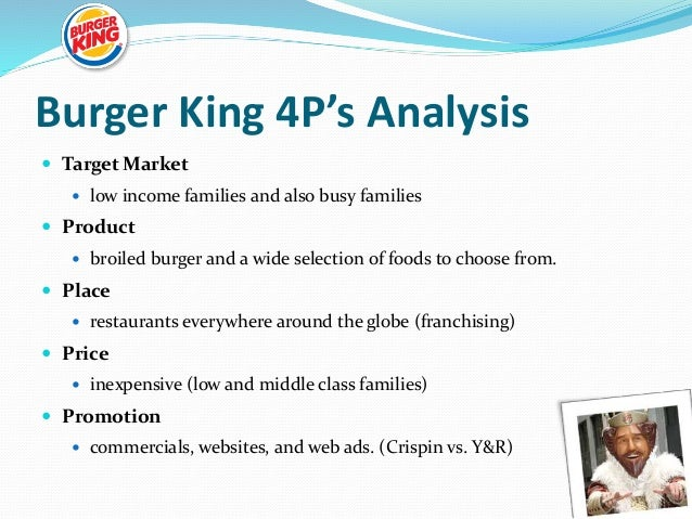 burger king case study marketing Economics Burger King Case Study Essay
