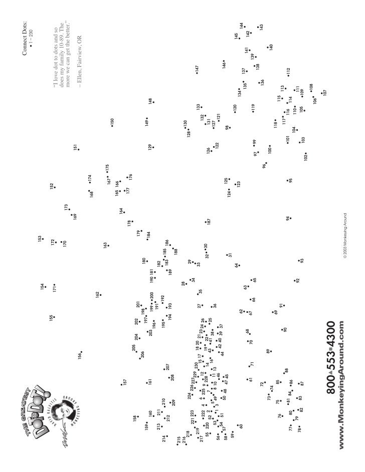 Greatest Dot to Dot Adventure Book 1 sample puzzle