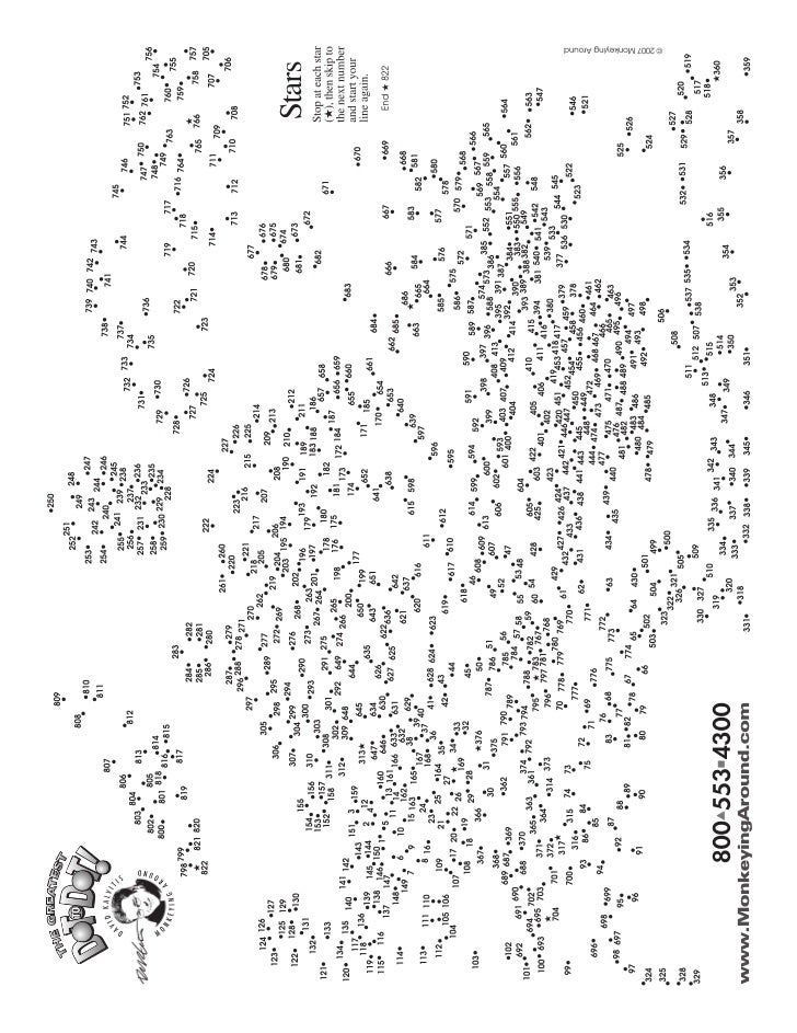 Greatest Super Challenge Dot-to-Dot Book 5 sample puzzle