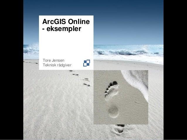 ArcGIS Online - eksempler  Tore Jensen Teknisk rådgiver