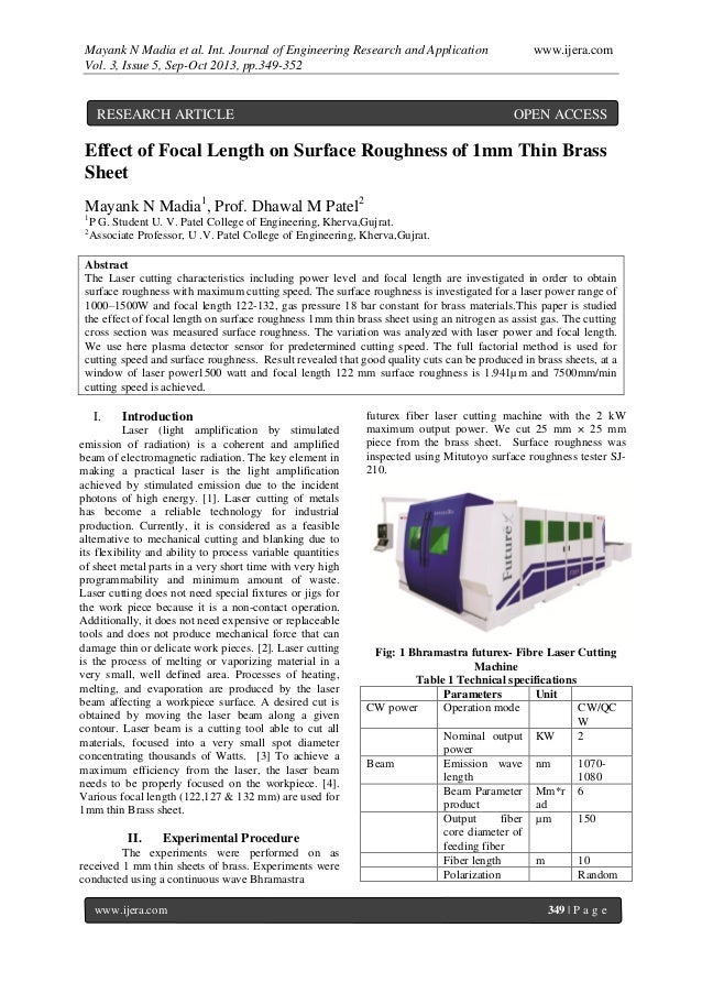 Mayank N Madia et al. Int. Journal of Engineering Research and Application www.ijera.com Vol. 3, Issue 5, Sep-Oct 2013, pp...