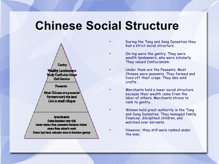 china social classes Over hundreds of years, the ming dynasty social structure greatly evolved and was influenced by confucianism the ming society was divided into four broad.