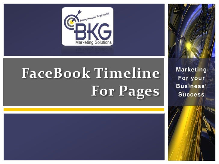 FaceBook Timeline   Marketing                    For your                    Business'        For Pages    Success