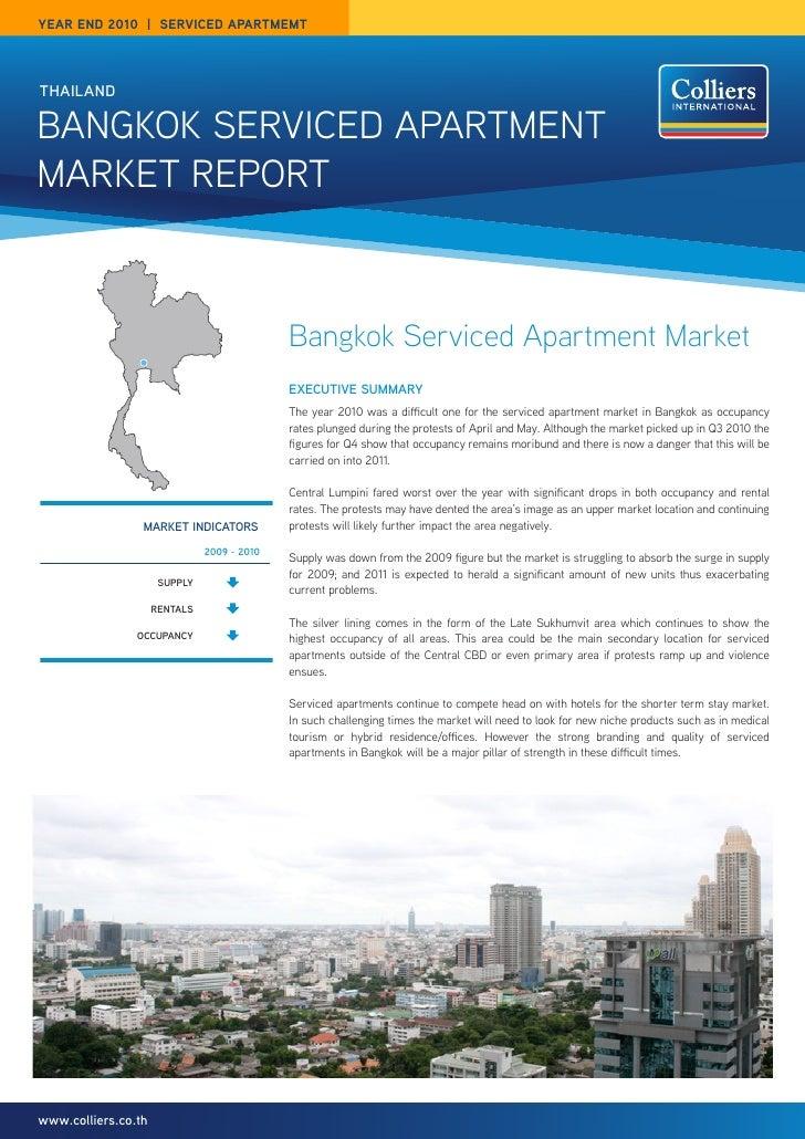 year end 2010 | SerVICed apartmemtthailandBangkok Serviced apartmentmarket report                                         ...
