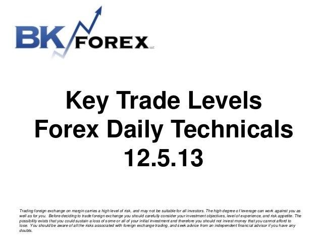 Key Trader Levels in Forex 12/5/13 Bk technicals