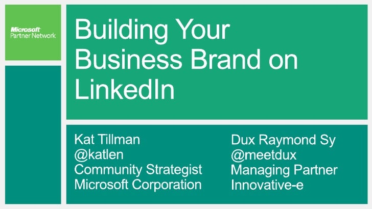 BL43: Building Your Business Brand On LinkedIn