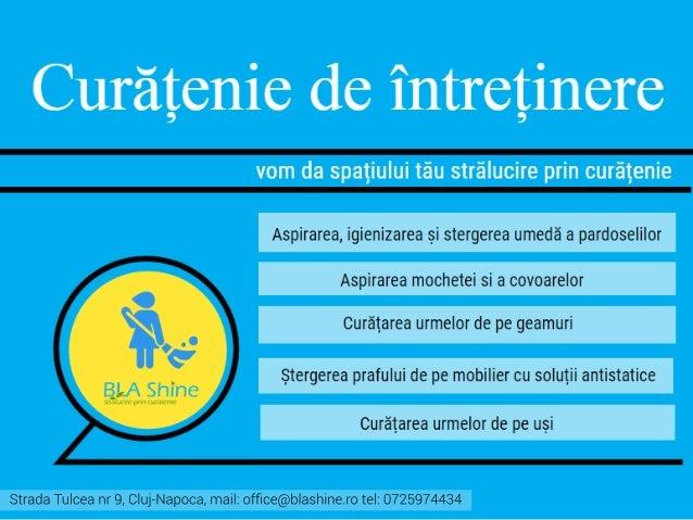 Descrierea serviciilor BLA Shine