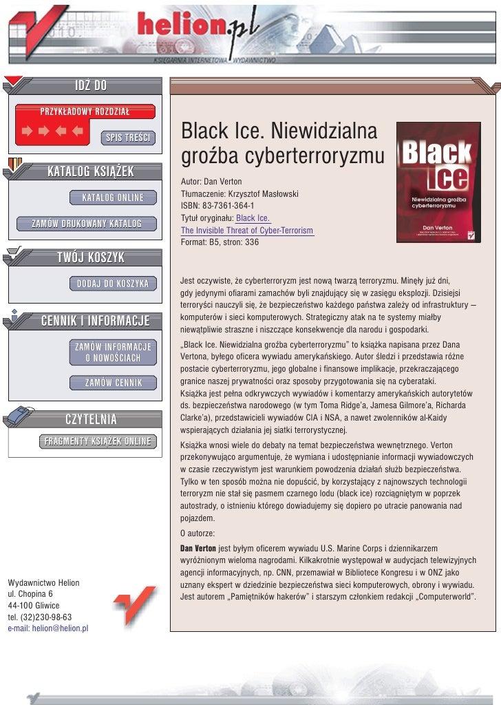 Black Ice. Niewidzialna groźba cyberterroryzmu
