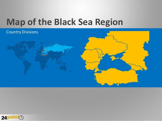 Map of the Black Sea Region Country Divisions