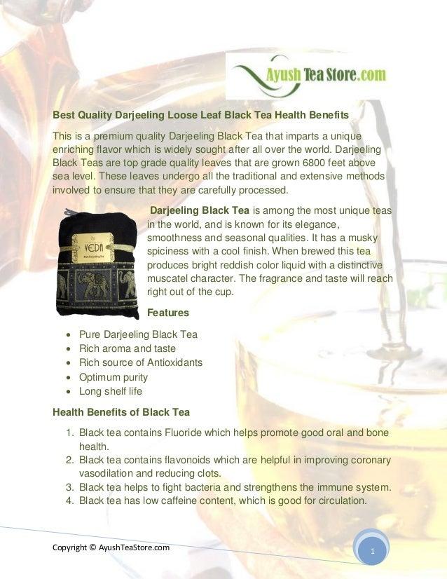 Premium Quality Darjeeling Loose Leaf Black Tea Health Benefits