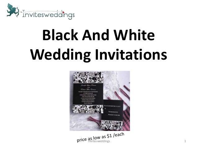 Black And WhiteWedding Invitations1Invitesweddings