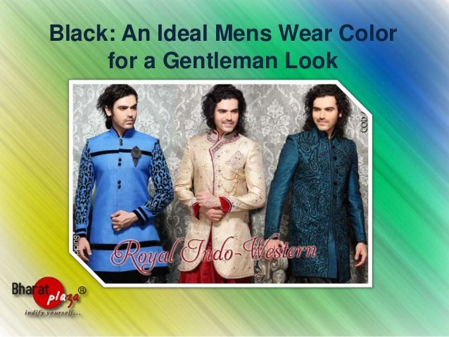 Black: An Ideal Mens Wear Color for a Gentleman Look