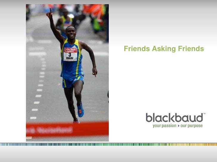 Blackbaud Friends Asking Friends