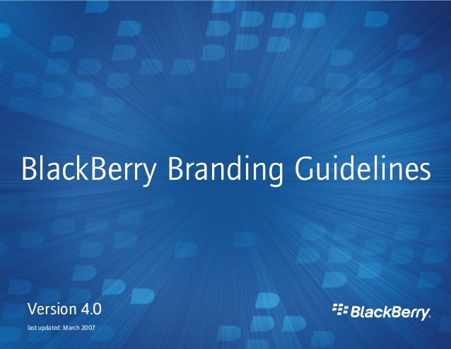 Black Berry Brand Manual