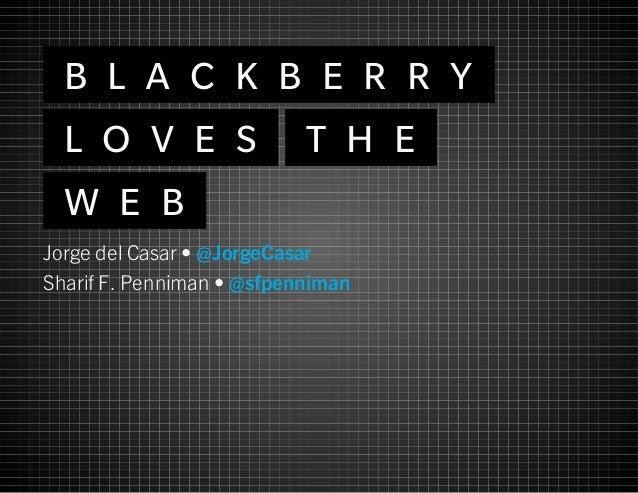 BlackBerry Loves the Web
