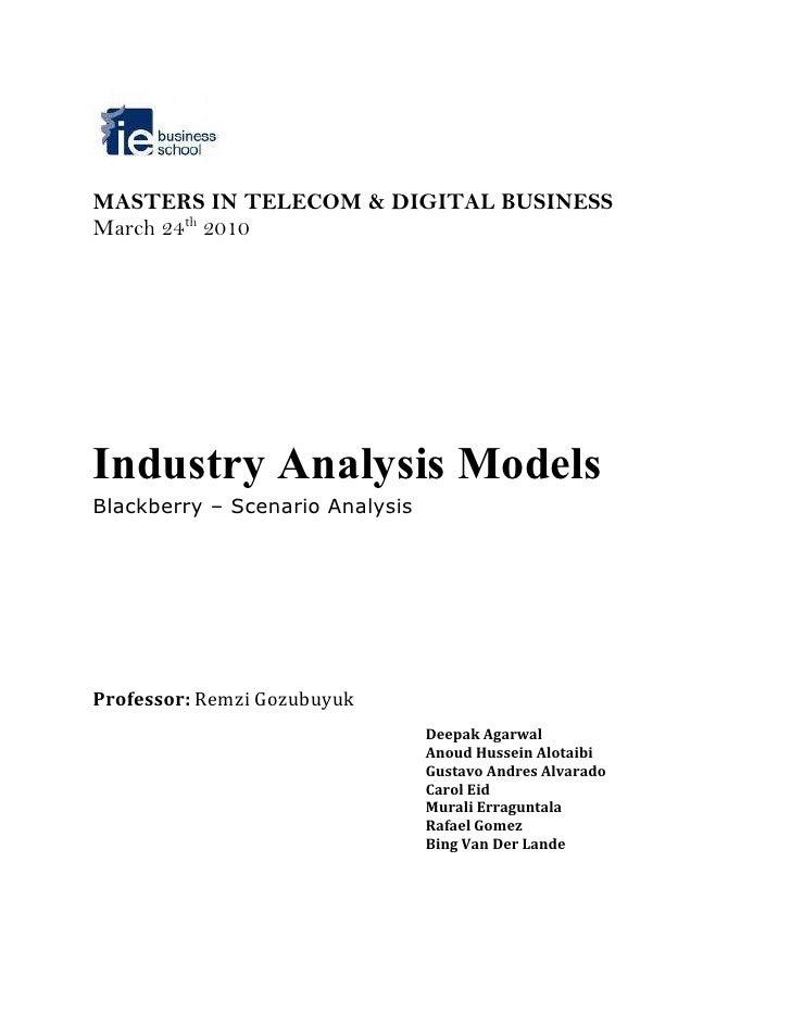 blackberry case analysis Blackberry - scenario analysis - free download as powerpoint presentation (ppt / pptx) or view presentation slides online.