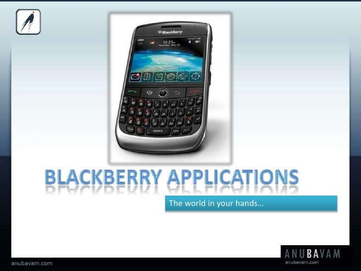 Blackberry Development   Anubavam