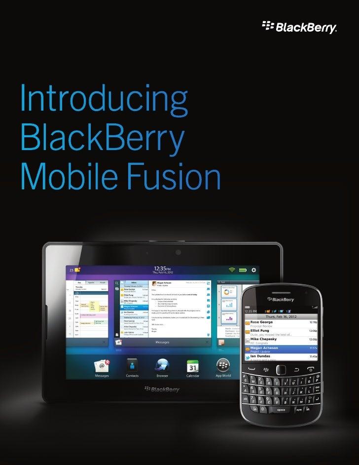 IntroducingBlackBerryMobile Fusion