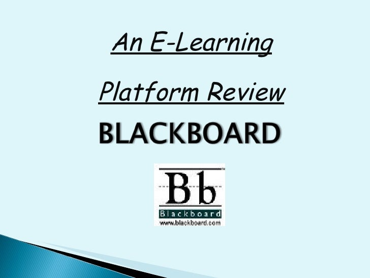 An E-Learning Platform Review