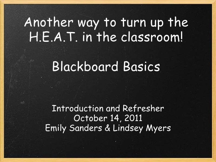 Blackboard basics 1
