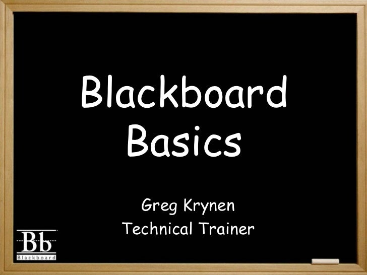 Blackboard Basics