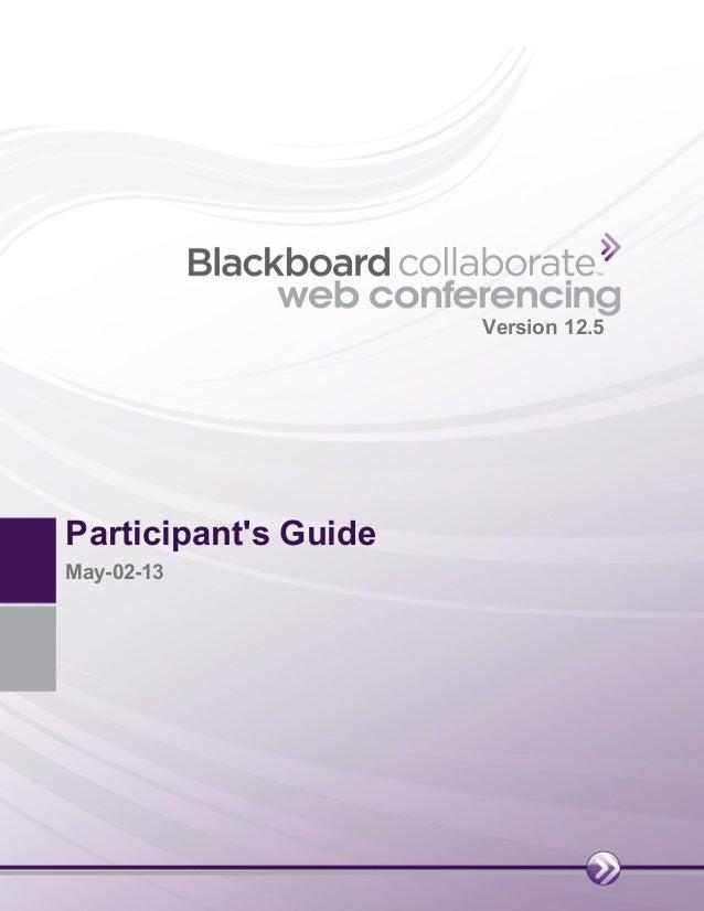 Bb Collaborate Web Conferencing Guide