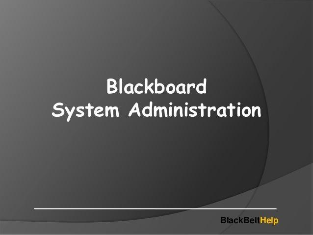 blackboard system admin