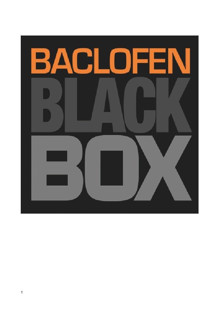 Blackbox: neue Wege in der Behandlung von Sucht mit Baclofen