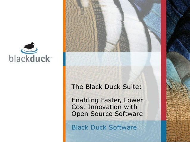 The Black Duck Suite: Enabling Faster, Lower Cost Innovation with Open Source Software Black Duck Software