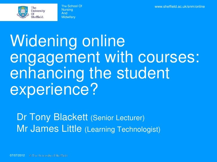 NET 2011: Widening online engagement with courses: enhancing the student experience?