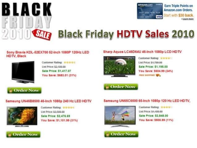 Black Friday HDTV Sales Ads 2010