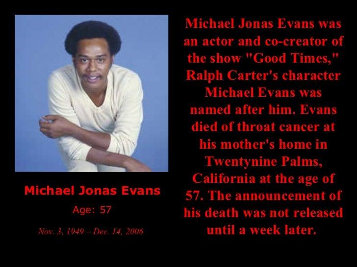 Michael evans good times