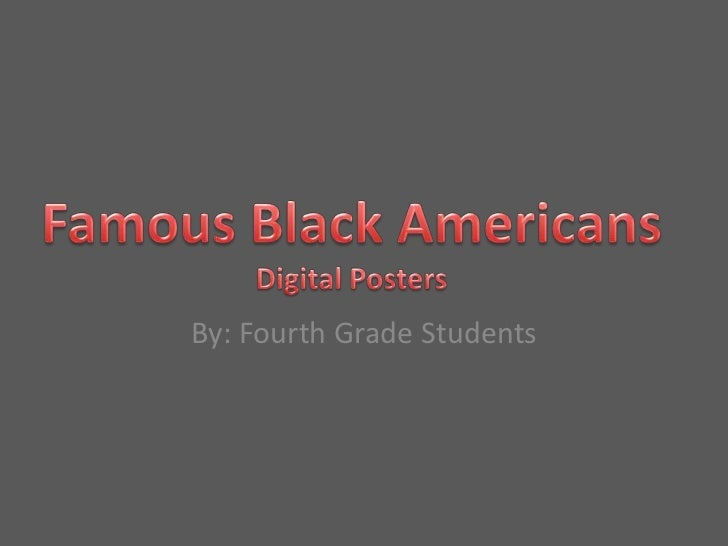 Black history project student examples