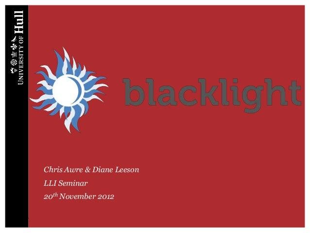 Blacklight intro - LLI seminar