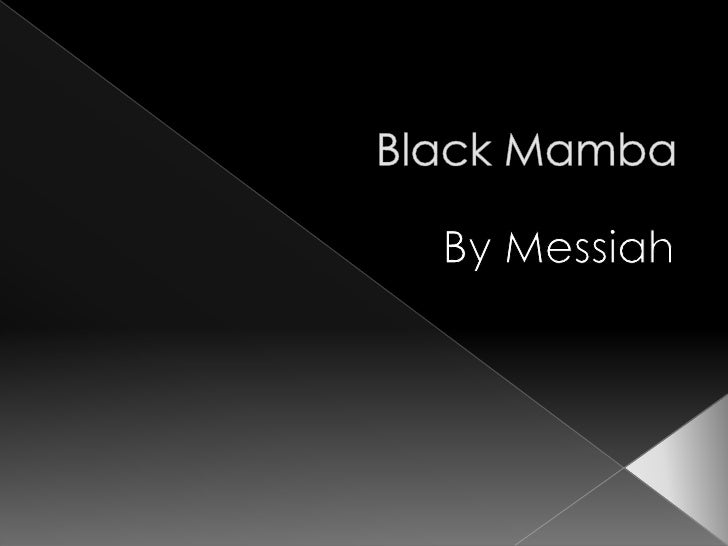 Black Mamba <br />By Messiah<br />