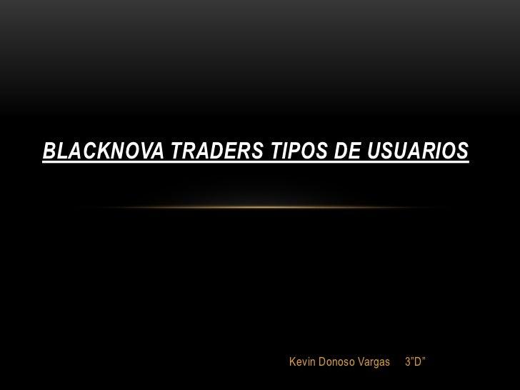 "BLACKNOVA TRADERS TIPOS DE USUARIOS                    Kevin Donoso Vargas   3""D"""