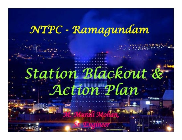 NTPC Ramagundam Station Blackout and Action Plan