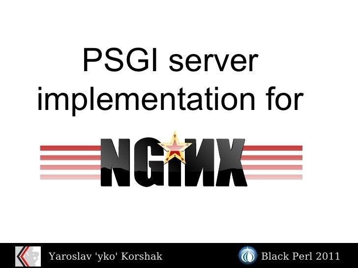 PSGI server implementation for