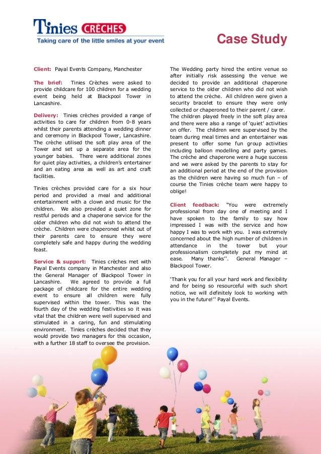 Blackpool tower wedding creche & activities