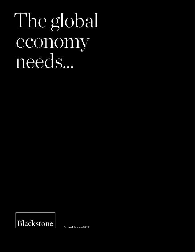 Blackstone -The Global Economy Needs...