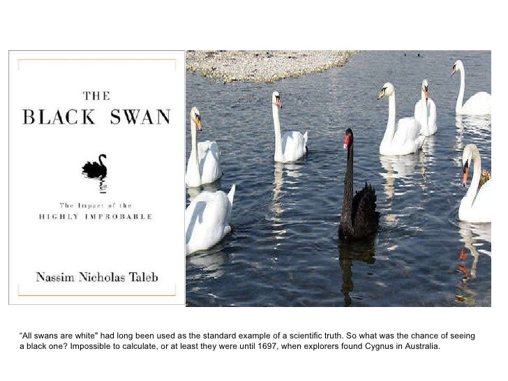 """"""" All swans are white"""" had long been used as the standard example of a scientific truth. So what was the chance of se..."""
