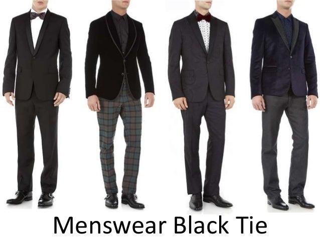 Menswear Black Tie