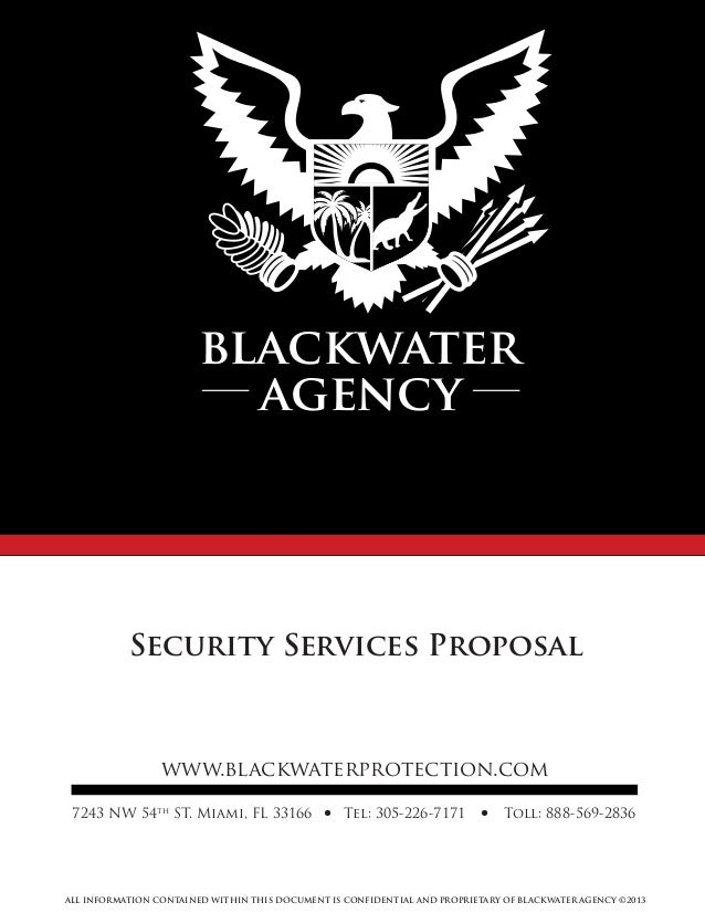 Blackwater proposal 2013
