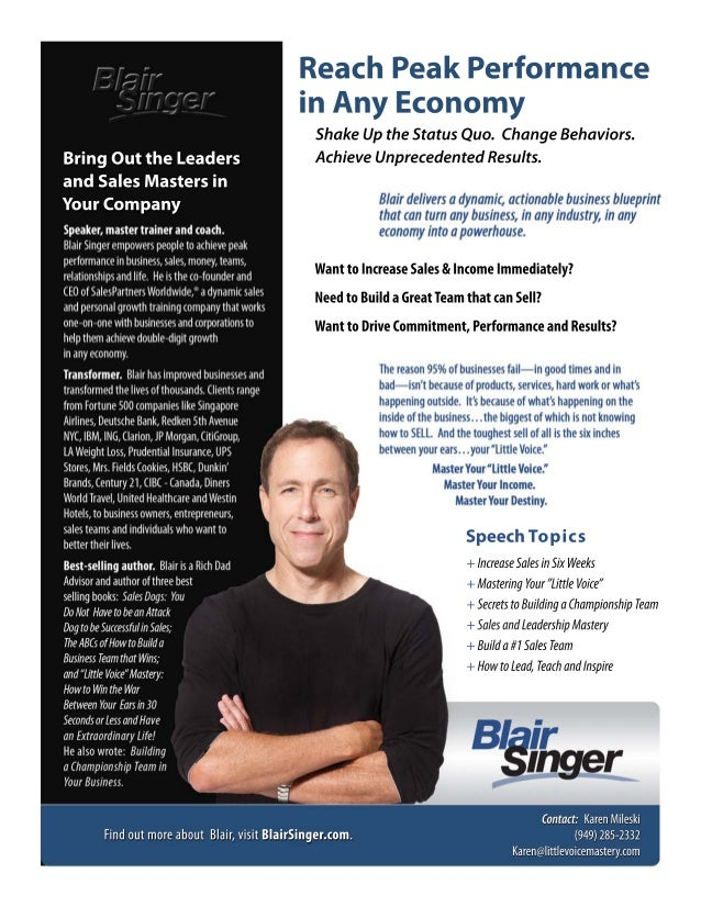 Blair singer speakerprofile