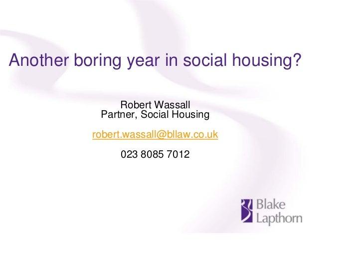 Blake Lapthorn Social Housing seminar - 22 February 2012
