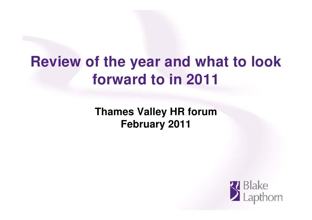 Blake lapthorn Thames Valley HR forum - 1 February 2011