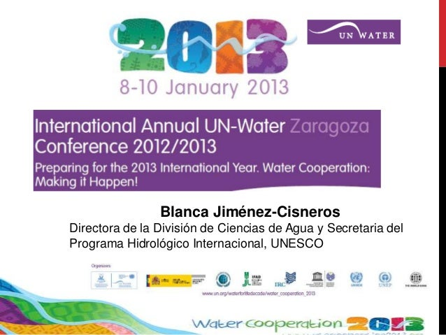 The International Year of Water Cooperation and expectations from the Conference