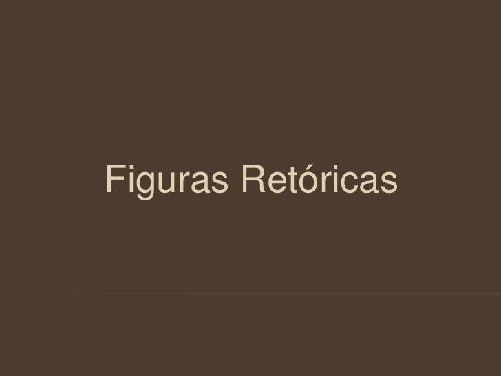 Figuras Retóricas <br />