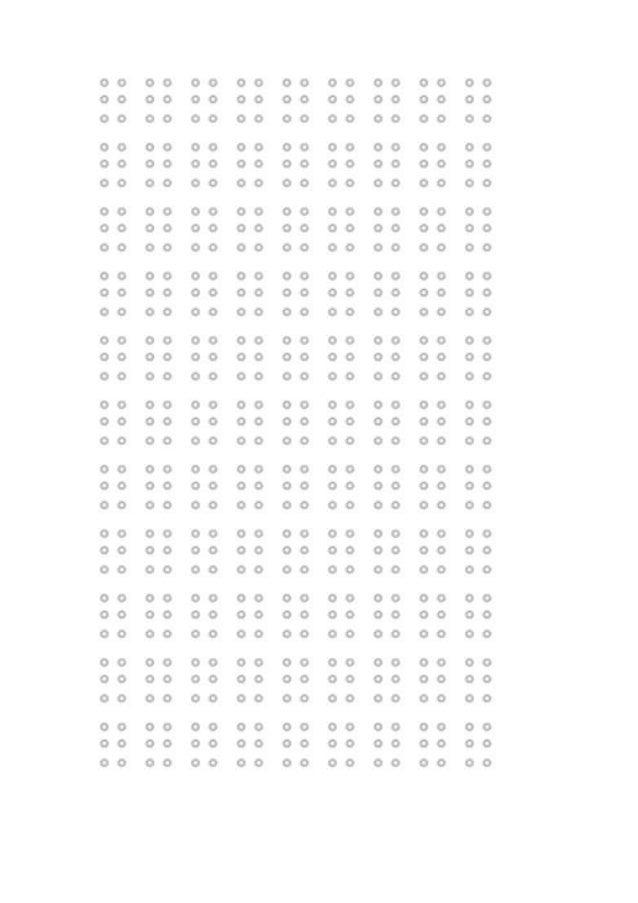 Blank braille code